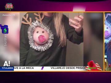 """La 'teta reno' vuelve a ser tendencia estas Navidades: """"Te puedes pillar un resfriado que se te agarre al pecho"""""""