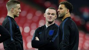 Wayne Rooney, en un entrenamiento de Inglaterra