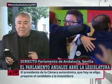 """El análisis de Ferreras sobre los pactos en Andalucía: """"C's lo ha intentado camuflar con la presencia de Adelante Andalucía, pero Vox está presente en la combinación"""""""