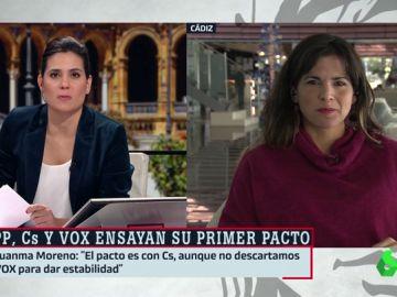 """Teresa Rodríguez: """"El acuerdo de PP, Cs y Vox pone en riesgo los derechos conquistados con mucho esfuerzo por el pueblo andaluz"""""""