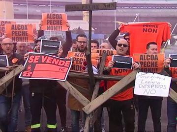 Los trabajadores de Alcoa anuncian más movilizaciones tras la reunión con la empresa