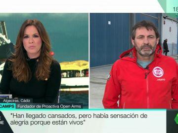 """Óscar Camps, tras la llegada del Open Arms a Algeciras: """"Han llegado cansados, pero satisfechos porque están vivos"""""""