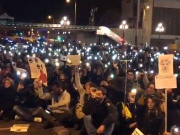 Manifestación por Sota