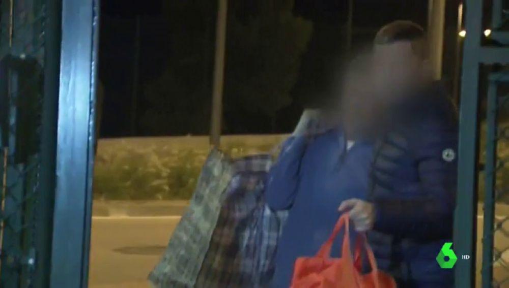 Jordi Magentí saliendo de la cárcel