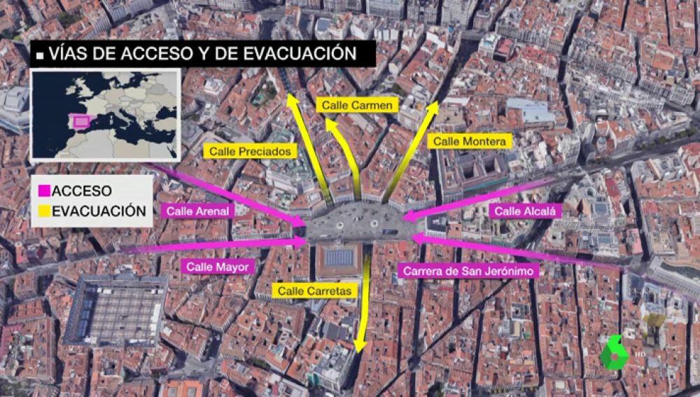 Dispositivo de Seguridad de Nochevieja en la Puerta del Sol