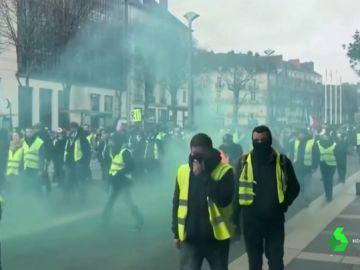 Imagen de los 'chalecos amarillos' en Francia