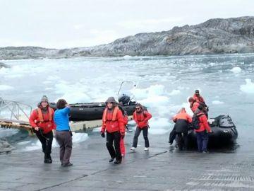 Imágenes del grupo de mujeres científicas que pasarán la Nochevieja en la Antártida