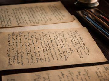 Carta antigua - Imagen de archivo