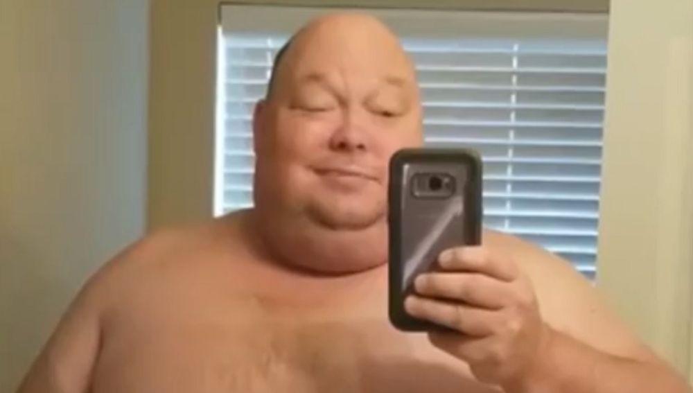 Imagen del hombre que ha perdido 90 kilos