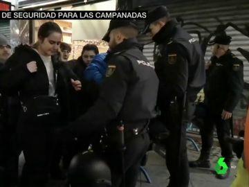 Dispositivo de seguridad en la Puerta del Sol