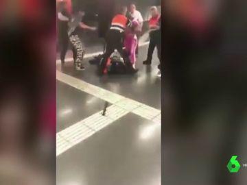 Trabajadores de seguridad del Metro de Barcelona