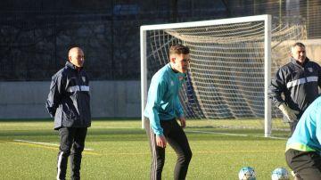 El FC Andorra, en un entrenamiento