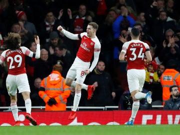 Ramsey celebra su gol contra el West Ham