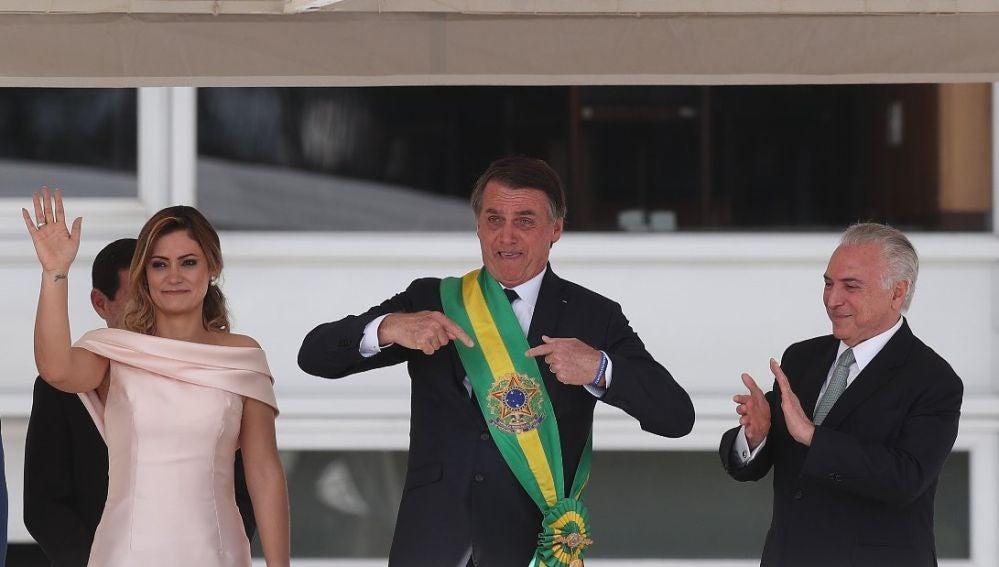 Bolsonaro toma posesión como presidente de Brasil