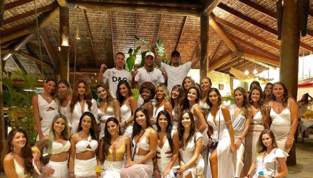 La fiesta de Neymar y Arthur para celebrar la llegada de 2019