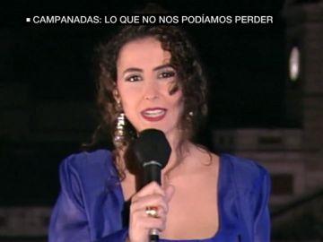Inma Soriano presentando las campanadas en 1994