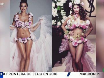 Vestido de Cristina Pedroche comparado con el de Yves Saint Laurent.