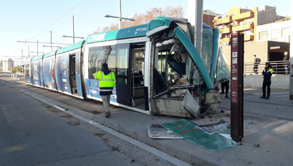 Accidente de tranvía en Barcelona