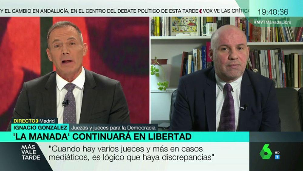 """Ignacio González, Jueces para la Democracia, sobre la Manada: """"Estos señores gozan de presunción de inocencia. No hay condena firme"""""""