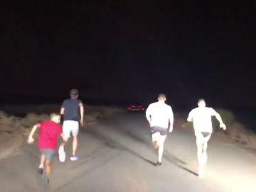 La carrera nocturna de Cristiano Ronaldo en el desierto de Dubái