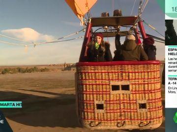 Volar a más de 550 metros de altura con una base de mimbre y tela: así es un viaje en globo aerostático