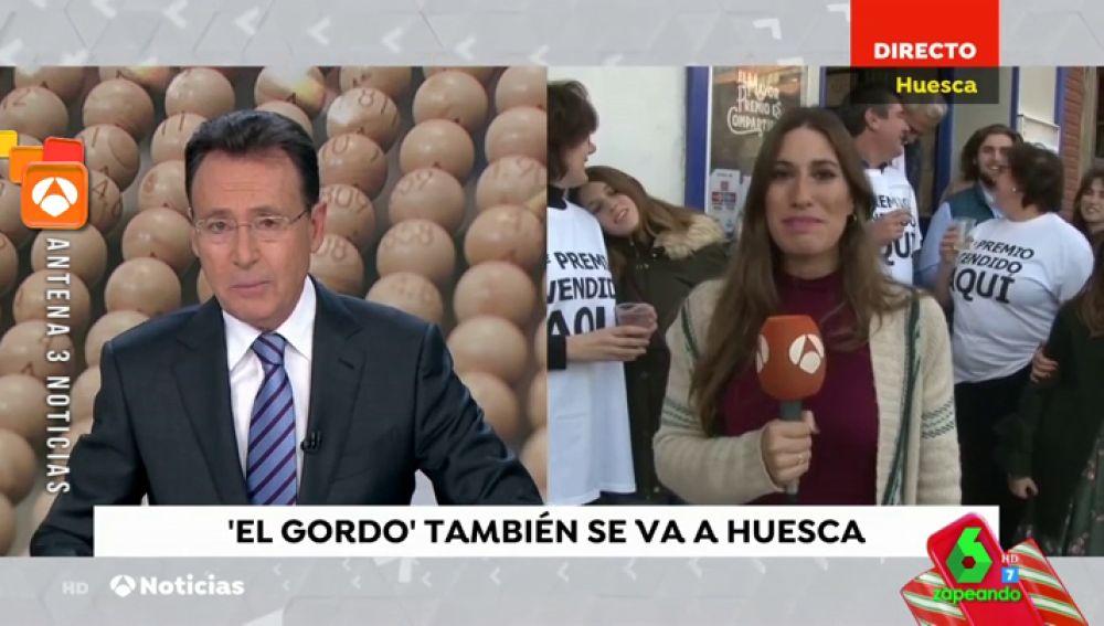 La periodista que conectó en directo con Matías Prats tras tocarle 'El Gordo'