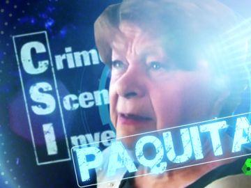 CSI Paquita, la cortina que paró una bala