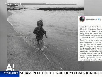 Felicitación de Sara Carbonero a su hijo Milán
