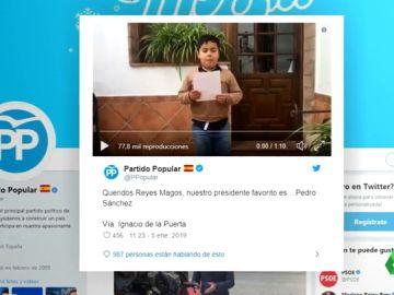 El Gobierno pedirá a la Fiscalía investigar el tuit del PP deseando la muerte a Pedro Sánchez