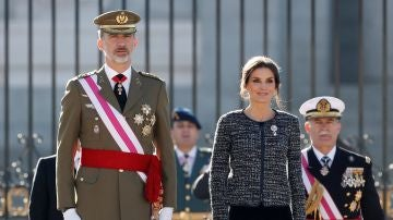 El rey Felipe VI junto a la reina Letizia