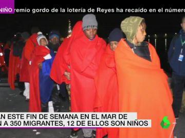 Rescate de un centenar de migrantes en el Mar de Alborán