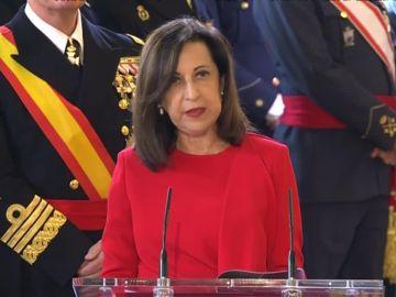 Margarita Robles, durante su intervención en la Pascua militar