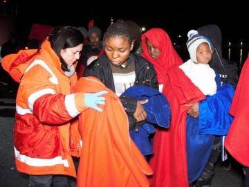 Rescate a inmigrantes en Andalucía