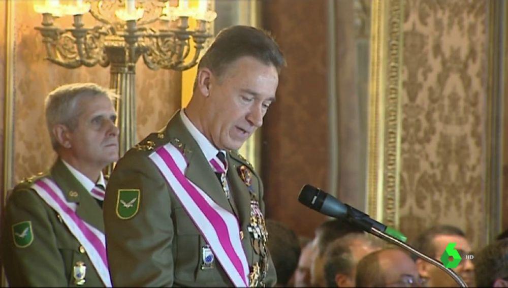 El Teniente General Inspector General del Ejército, Fernando Aznar