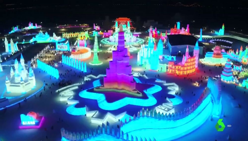 Festival de hielo en Harbin, China