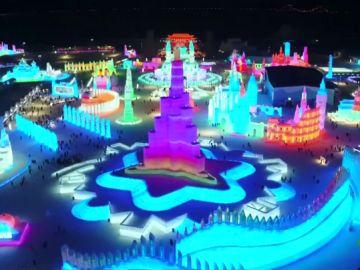 Festival de hielo en Harbin, China