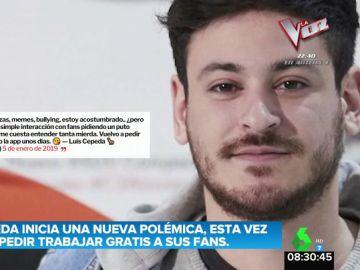 Cepeda la vuelve a liar en Twitter al pedir a sus fans que trabajen gratis