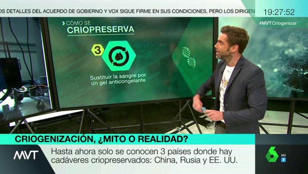 José Yelamo explica como funciona la criopreservación