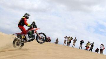 Joan Barreda, en acción en la etapa 1 del Dakar 2019