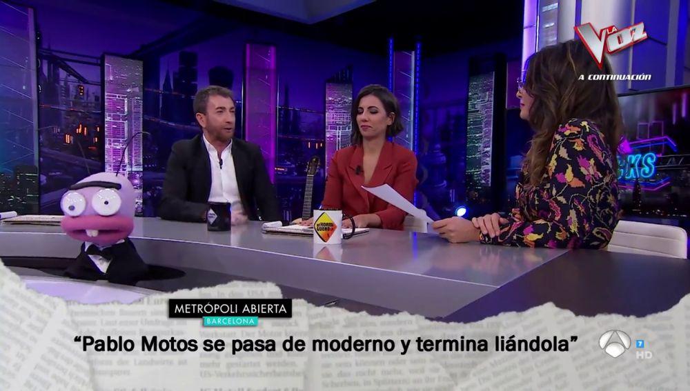 Nuria Roca repasa los titulares sobre El Hormiguero