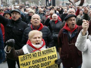 Los pensionistas vascos continúan con sus movilizaciones