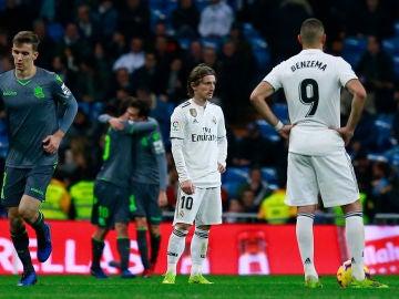 Luka Modric, abatido contra la Real Sociedad