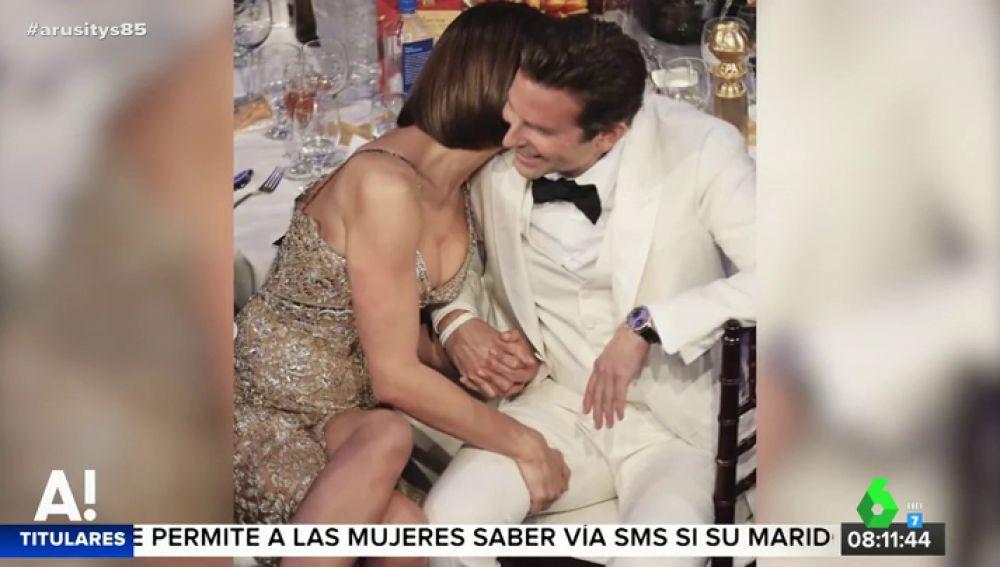 Irina Shayk y el actor Bradley Cooper