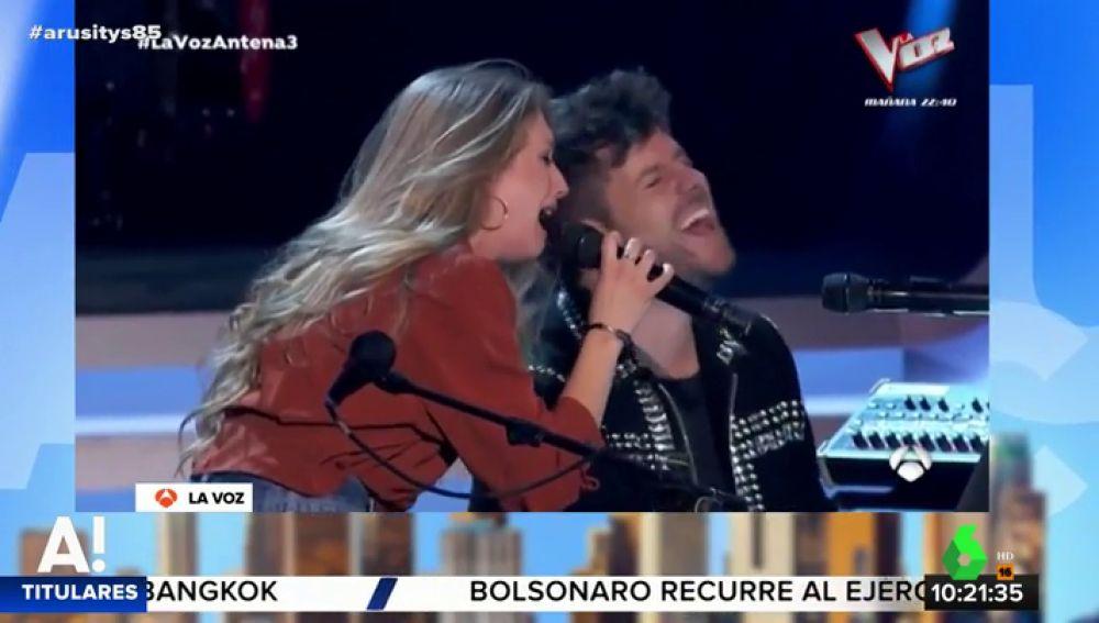 palomiPablo López y Palomi, protagonistas del estreno de La Voz