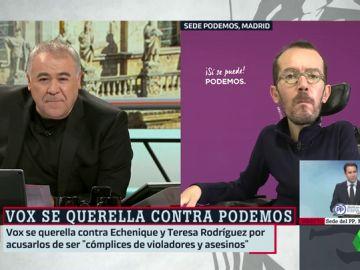 """La reacción de Echenique a la querella de Vox: """"Es normal que un partido neofranquista vaya contra Podemos y los periodistas"""""""