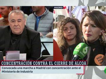 """Yolanda Díaz (En Marea): """"Lo que tiene que hacer el Gobierno de España es ser valiente y enfrentarse a la multinacional Alcoa"""""""
