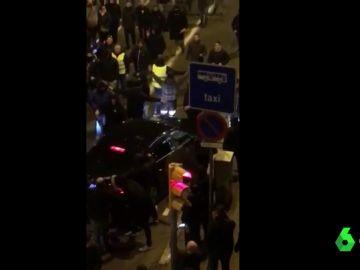 Momentos previos al ataque contra un conductor de VTC en Barcelona