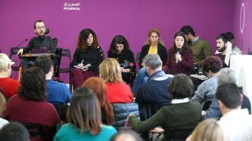 Imagen del comité de campaña estatal de Podemos