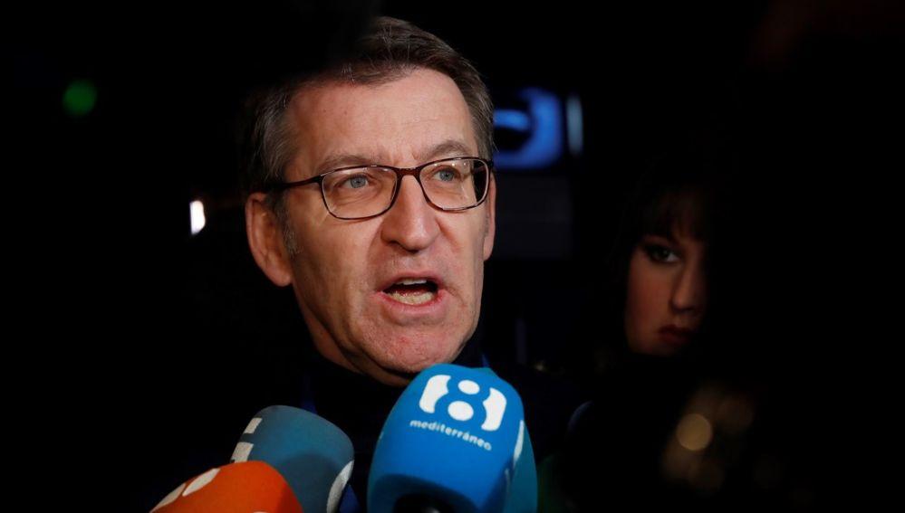 Alberto Núñez Feijóo en la convención del PP