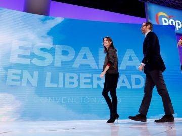 Andrea Levy y Maroto en la convención del PP